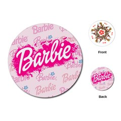 Barbie Pattern Playing Cards (round)