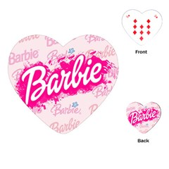 Barbie Pattern Playing Cards (heart)