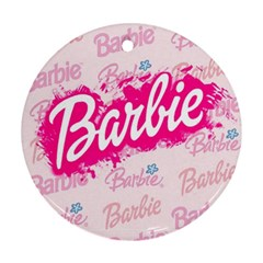 Barbie Pattern Round Ornament (two Sides)