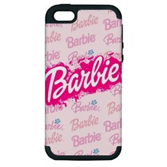 Barbie Pattern Apple Iphone 5 Hardshell Case (pc+silicone)