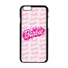 Barbie Pattern Apple Iphone 6/6s Black Enamel Case