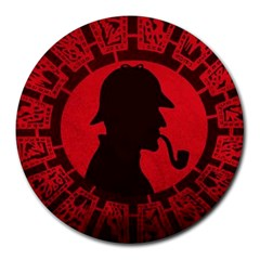 Book Cover For Sherlock Holmes And The Servants Of Hell Round Mousepads