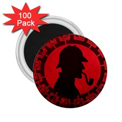 Book Cover For Sherlock Holmes And The Servants Of Hell 2 25  Magnets (100 Pack)