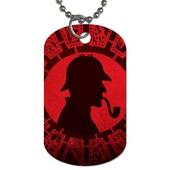 Book Cover For Sherlock Holmes And The Servants Of Hell Dog Tag (two Sides)
