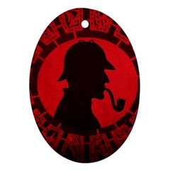 Book Cover For Sherlock Holmes And The Servants Of Hell Oval Ornament (two Sides)