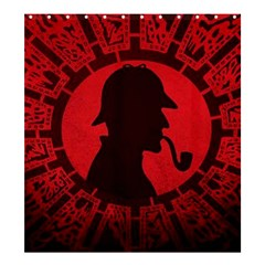 Book Cover For Sherlock Holmes And The Servants Of Hell Shower Curtain 66  X 72  (large)