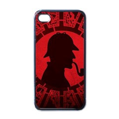 Book Cover For Sherlock Holmes And The Servants Of Hell Apple Iphone 4 Case (black)