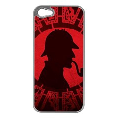 Book Cover For Sherlock Holmes And The Servants Of Hell Apple Iphone 5 Case (silver)