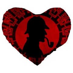 Book Cover For Sherlock Holmes And The Servants Of Hell Large 19  Premium Heart Shape Cushions