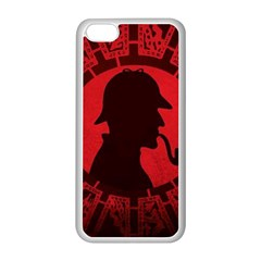 Book Cover For Sherlock Holmes And The Servants Of Hell Apple Iphone 5c Seamless Case (white)