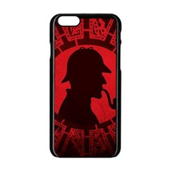 Book Cover For Sherlock Holmes And The Servants Of Hell Apple Iphone 6/6s Black Enamel Case by Samandel