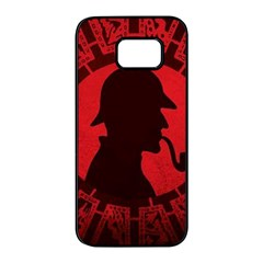 Book Cover For Sherlock Holmes And The Servants Of Hell Samsung Galaxy S7 Edge Black Seamless Case