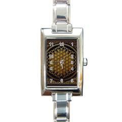 Tree Of Live Pattern Rectangle Italian Charm Watch by Samandel
