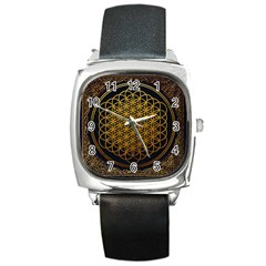 Tree Of Live Pattern Square Metal Watch by Samandel