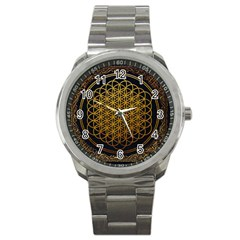 Tree Of Live Pattern Sport Metal Watch by Samandel
