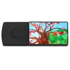 Coral Tree Blooming Rectangular Usb Flash Drive by bestdesignintheworld