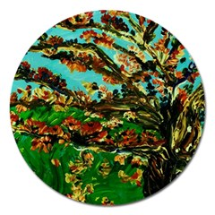 Coral Tree 1 Magnet 5  (round) by bestdesignintheworld