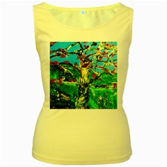 Coral Tree 2 Women s Yellow Tank Top