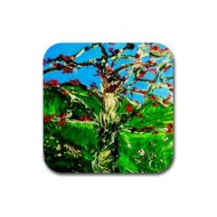 Coral Tree 2 Rubber Coaster (square)