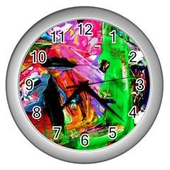 Triplets 1 Wall Clocks (silver)