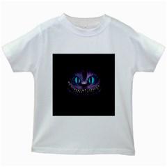 Cheshire Cat Animation Kids White T Shirts