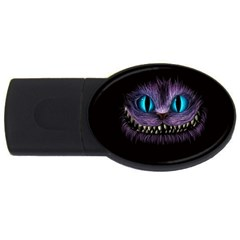 Cheshire Cat Animation Usb Flash Drive Oval (2 Gb)