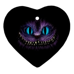 Cheshire Cat Animation Heart Ornament (two Sides)