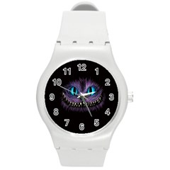 Cheshire Cat Animation Round Plastic Sport Watch (m) by Samandel