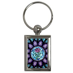 Cathedral Rosette Stained Glass Key Chains (rectangle)