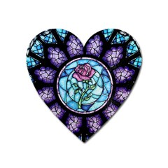 Cathedral Rosette Stained Glass Heart Magnet by Samandel