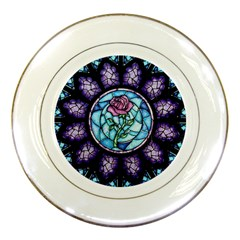Cathedral Rosette Stained Glass Porcelain Plates
