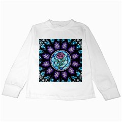 Cathedral Rosette Stained Glass Kids Long Sleeve T Shirts