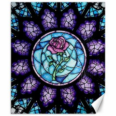 Cathedral Rosette Stained Glass Canvas 8  X 10