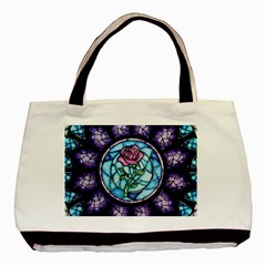 Cathedral Rosette Stained Glass Basic Tote Bag (two Sides)