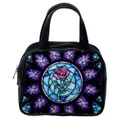 Cathedral Rosette Stained Glass Classic Handbags (one Side)
