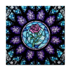 Cathedral Rosette Stained Glass Face Towel