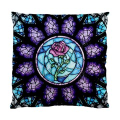 Cathedral Rosette Stained Glass Standard Cushion Case (two Sides)