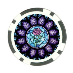 Cathedral Rosette Stained Glass Poker Chip Card Guard (10 Pack)