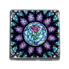 Cathedral Rosette Stained Glass Memory Card Reader (square)