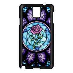 Cathedral Rosette Stained Glass Samsung Galaxy Note 3 N9005 Case (black)