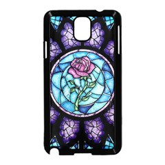 Cathedral Rosette Stained Glass Samsung Galaxy Note 3 Neo Hardshell Case (black)
