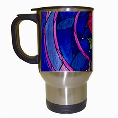Enchanted Rose Stained Glass Travel Mugs (white) by Samandel