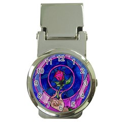 Enchanted Rose Stained Glass Money Clip Watches by Samandel