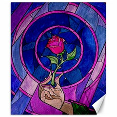 Enchanted Rose Stained Glass Canvas 20  X 24   by Samandel