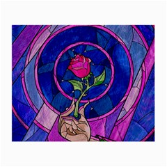 Enchanted Rose Stained Glass Small Glasses Cloth (2 Side) by Samandel