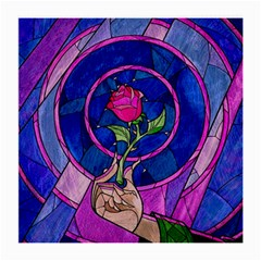 Enchanted Rose Stained Glass Medium Glasses Cloth (2 Side) by Samandel