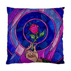 Enchanted Rose Stained Glass Standard Cushion Case (one Side) by Samandel