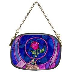 Enchanted Rose Stained Glass Chain Purses (two Sides)  by Samandel