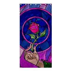 Enchanted Rose Stained Glass Shower Curtain 36  X 72  (stall)  by Samandel