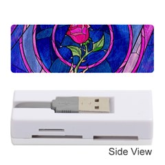 Enchanted Rose Stained Glass Memory Card Reader (stick)  by Samandel